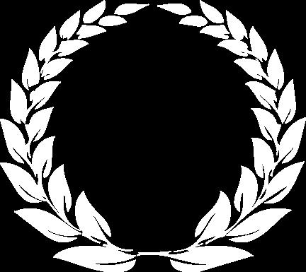 Coroa de louros branca