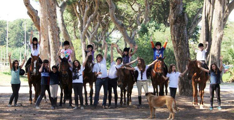 Estágios de férias com cavalos